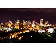 Edmonton Skyline by Night Photographic Print