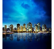 Vancouver by Night Photographic Print