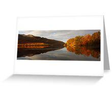 Autumn Reflections on Loch Eilt. Greeting Card