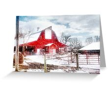 Winter Comes to Call Greeting Card