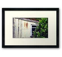 Old Rusty Garden Shed Framed Print