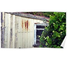 Old Rusty Garden Shed Poster