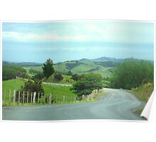 Gravel Road at Te Arai Point Poster