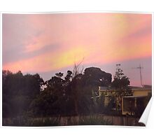 Spring sunset over my home Poster