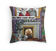 Looks Like Rain Dear Throw Pillow
