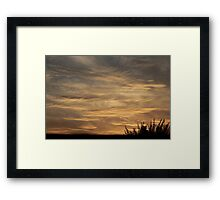 cross hatched sky Framed Print