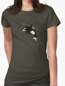 Cute Killer Whale Womens Fitted T-Shirt