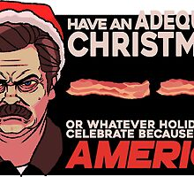 A Ron Swanson Christmas V.2 by zaofu