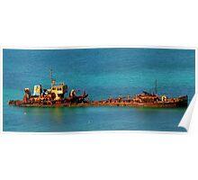 Panoramic Wreck Poster