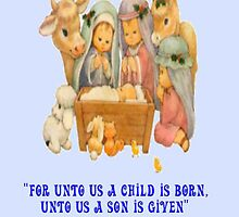 Jesus' Birth, Christmas card by MaeBelle