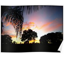 November Sunset in Florida Poster