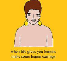 Lemon Earrings Man (w/ text) by Eliotmad