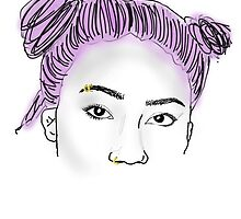 Tumblr girl outline by afroindy