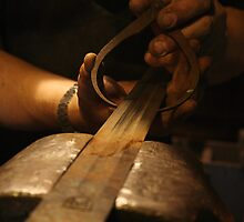 The Making of Medieval Sword In Progress by patjila