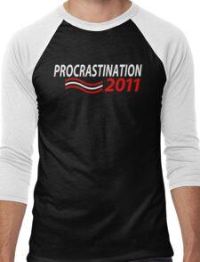 Vote Procrastination Men's Baseball ¾ T-Shirt