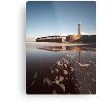 Whitby - Lighthouses and Pier Metal Print