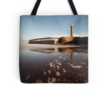 Whitby - Lighthouses and Pier Tote Bag