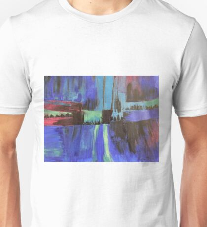 Cityscape in Blue Unisex T-Shirt