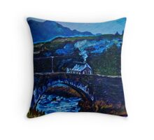 Somewhere in Donegal, painted from a photo by Jane McLaughlin Throw Pillow