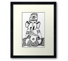 Ganesh Elephant Success Deity Framed Print