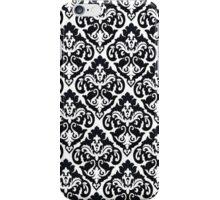 Black + White Paisley iPhone Case/Skin