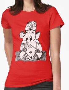 Ganesh Elephant Success Deity Womens Fitted T-Shirt