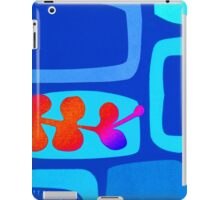 Retro Lozenge and Leaf Print iPad Case/Skin