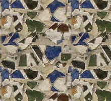 Mosaic Rock Pattern by TinaGraphics
