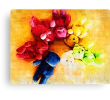 Colourful bears Canvas Print