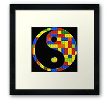 Brick yin and yang Framed Print