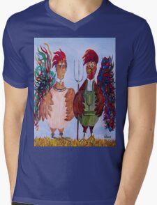 American Gothic - Down on the Farm Mens V-Neck T-Shirt