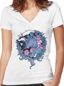 - Magical Unicorn - Women's Fitted V-Neck T-Shirt