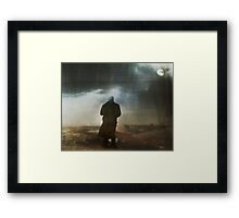 Icy night Framed Print