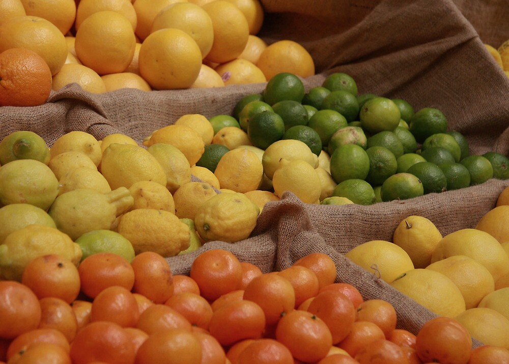 Oranges, apples and limes by Paul Boyle