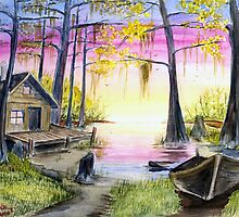 Sunset at the Fishin' Camp        by Anne Thigpen