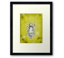 Girl on a swing. Framed Print