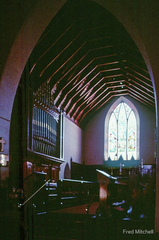 Scissors Truss roof Holy Trinity Church 1861 Maldon 19900910 0007 by Fred Mitchell