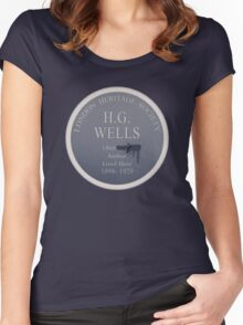 HG Wells Lived Here Women's Fitted Scoop T-Shirt