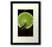 juicy lime Framed Print