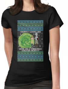 Merry Rickmas! Womens Fitted T-Shirt