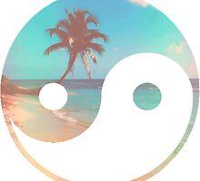 Palm Tree Yin Yang by e1iza