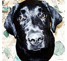 Black Labrador Retriever Dog Art Photographic Print