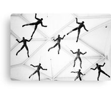 Falling, or hanging? Canvas Print