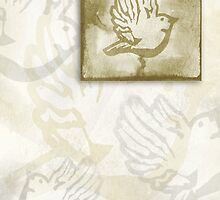 Dove on Parchment by TinaGraphics