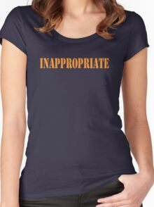 Inappropriate Women's Fitted Scoop T-Shirt
