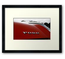 Ford classic car badge Framed Print