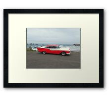 Our Chariot Await's ... Florence, Oregon Framed Print