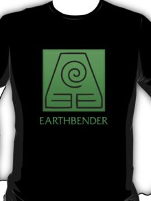 Earthbender (with text) T-Shirt