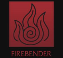Firebender (with text) Kids Clothes