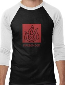 Firebender (with text) Men's Baseball ¾ T-Shirt